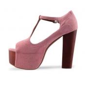 Fashion cheap pink high heels sandals