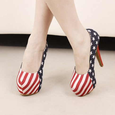 2012 Europen Styles Night Club Thick Platform High Stilletto Heels Blue Women Shoes