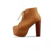 New style thick heel belt high heel short boots