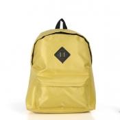 Hot Sales Zipper Design Solid Yellow Suede Backpac
