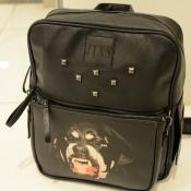 Unisex PU Animal Prints Zipper Backpacks