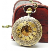Vintage Rome Dual Time Display Golden Big Round Fa