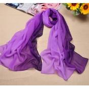 Hot Sales Gradually Changing Color Purple Chiffon