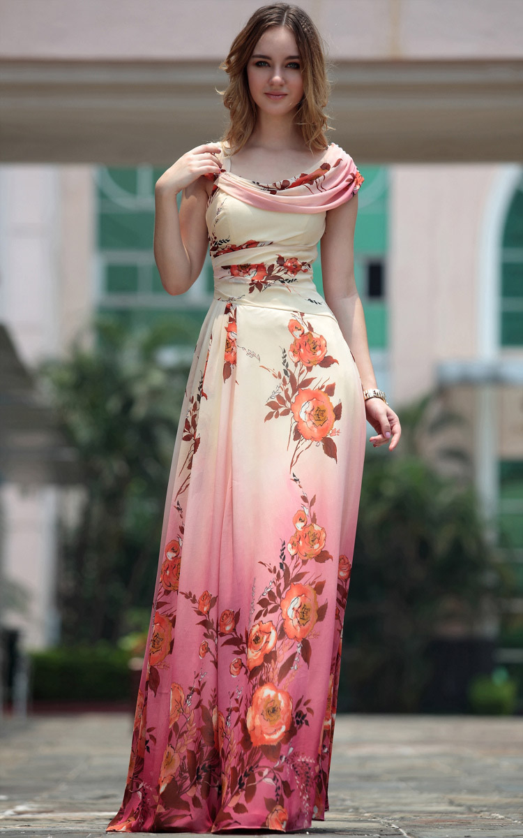 fashion o neck sleeveless asymmetrical floor length silk dresses dresses lovelywholesale. Black Bedroom Furniture Sets. Home Design Ideas