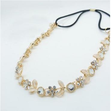 Fashion Sweet Golden Diamond Little Flowers  Metal Hairpin
