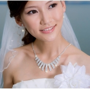 Fantastic Diamond Embellished Geometry Shaped Wedd