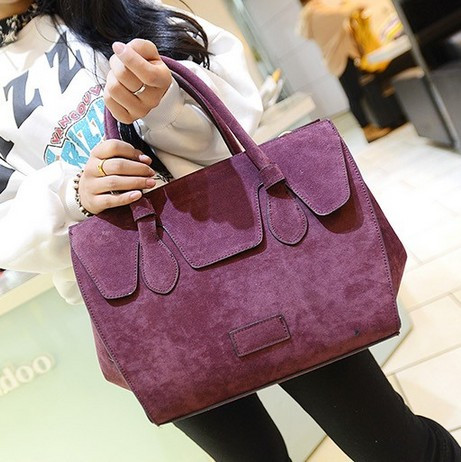 Fashion Solid Zipper Purple PU Clutches Bag