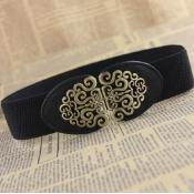 Fashion Retro Black Elastico Belts