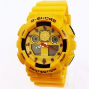 Fashion Yellow Rubber Watch