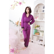 Woman Purple Polyester pajamas