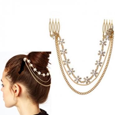 Fashion Gold Metal Hairpin