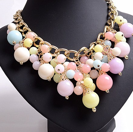 Fashion Layer Pearl Metal Necklace