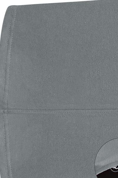 Fashion O Neck Tank Sleeveless Sheath Grey Cotton Mini Dress