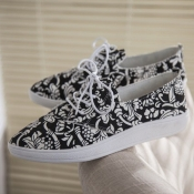 Casual Round Closed Toe Basic Low Heel China Flowe