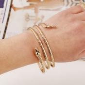 Cheap Fashion Wind Snake Shaped Gold Metal Bracele