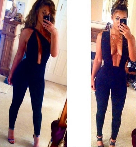 8a605db6da91 Cheap Sexy V Neck Tank Sleeveless Backless Front Open-work Solid Black  Blending One-