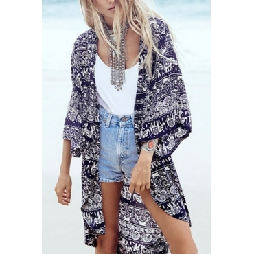Fashion Print Beach Cover-up