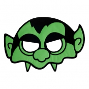 Halloween Skeleton Green PVC Mask