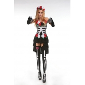 Sexy Skeleton Print Polyester Halloween Beautiful