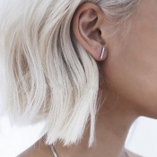 Fashion Silver Metal Earrings