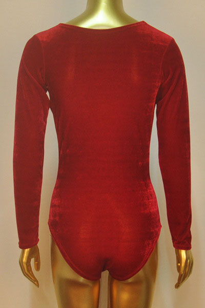 Sexy Draped Collar Long Sleeves Solid Red Polyester One-piece Regular Jumpsuit
