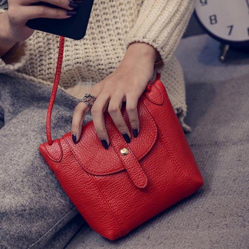 Fashion Locomotive Shaped Red PU Crossbody Bag