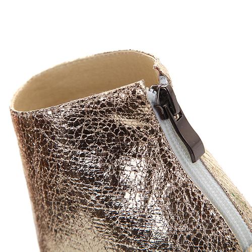 Модный круглый Peep Toe Color-шашка ямочный ремонт стилет Супер высокая каблучок чернить PU насосы