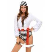 Sexy Patchwork Polyester Naughty Pirate Cosplay Co