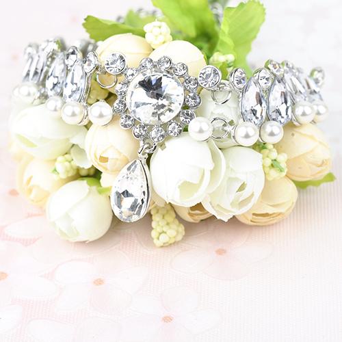 Fashion Rhinestone Decorative White Crystal Choker