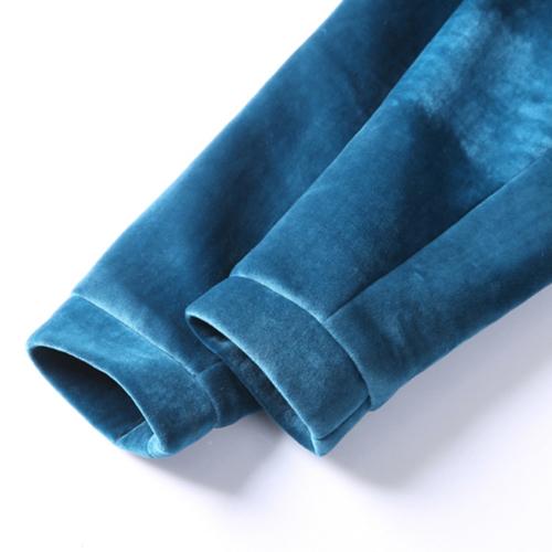 Stylish Round Neck Long Sleeve Zipper Design Royalblue Spandex Coat