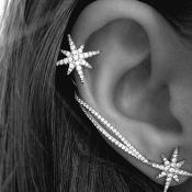 Euramerican Snowflake Rhinestone Decorative Silver