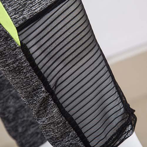 Leisure Long Sleeves Color-block Patchwork  Cotton Two-piece Pants Set
