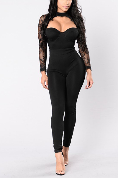 Healthy Fabric Solid Regular Jumpsuits
