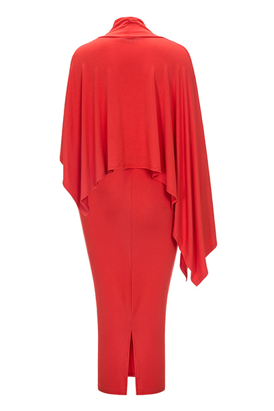 Cotton Fashion O neck Long Sleeve Mid Calf Dresses