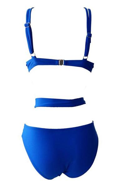 Сексуальная голубая спандекса из двух частей купальника
