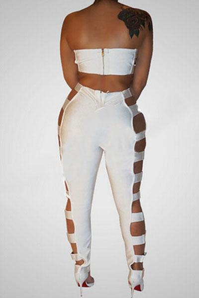 Сексуальный Полые-из белой здоровой ткани двух-частей брюки установить