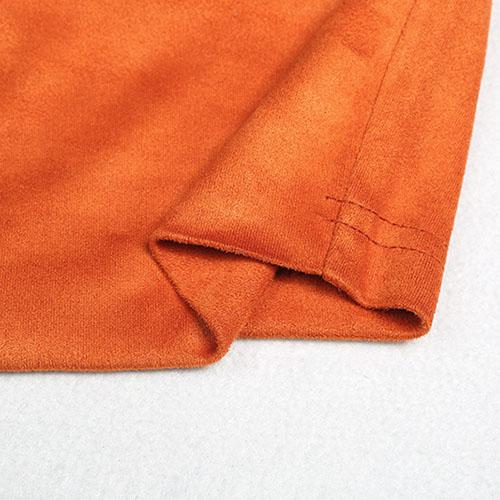 Lazer V Neck Manga Curta Laço-até oco-Brown Polyester T-camisa
