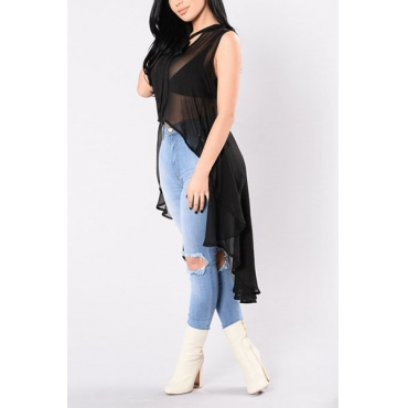 Pullovers Cotton O Neck Sleeveless Solid T-shirt