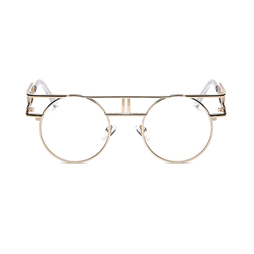 Stylish Hollow-out Gold Metal Sunglasses