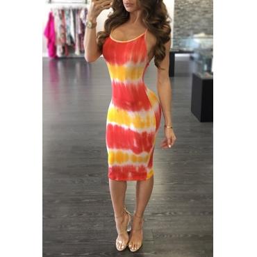 Платье для колена с длинным рукавом