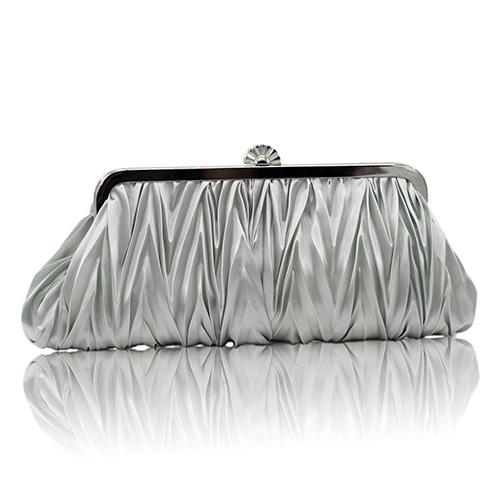 Mode Silber Satin Kupplungen Taschen