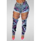 Sexy High Waist Hollow-out Denim Jeans