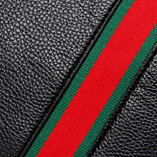 Borse in metallo elegante patchwork nero PU