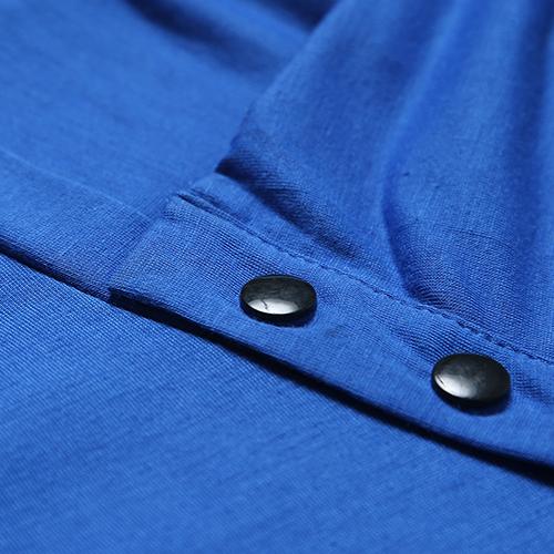 Leisure Tute a manica corta T-shirt Maniche corte Royalblue Cotton T-camicia