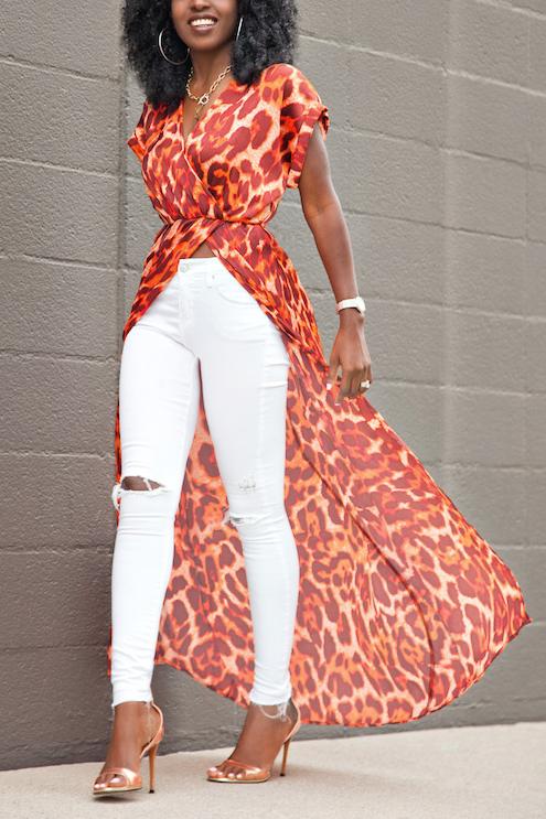 Pullovers Chiffon V Neck manga curta blusas de impressão e camisas