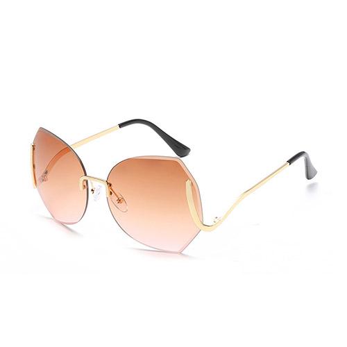 Stylish Tawney Metal Sunglasses