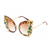 Fashion Hollow-out Yellow Metal Sunglasses