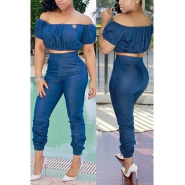 Fashion denim suit