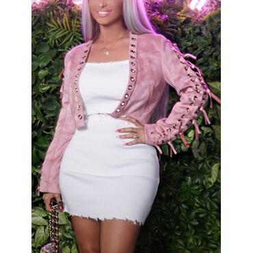 Cotton Blends  Long Sleeve  Short Coat&Jacket