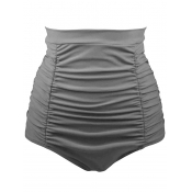 Sexy High Waist Grey Polyester Shorts